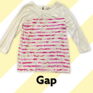 🆕  Gap white and Pink Camo Striped